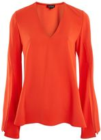 Topshop V-Neck Tunic Blouse
