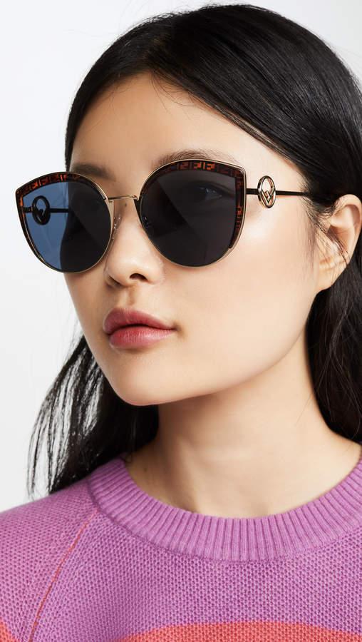 9e28f549a Fendi Gold Women's Sunglasses - ShopStyle