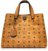 MCM Large Cognac Signature Visetos Original Tote