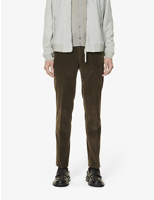 Pal Zileri Pressed-crease straight corduroy trousers