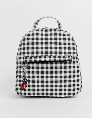 Yoki Fashion Yoki backpack in gingham print-Multi