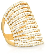 CARBON & HYDE 14K Gold Spine Ring With Diamonds