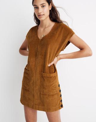 Madewell Corduroy Side-Button Shift Dress