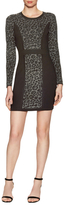 Milly Cheetah Jacquard Sheath Dress