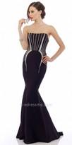 Nika Lana Strapless Evening Dress