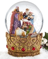Holiday Lane Musical Wiseman Adoration Snow Globe, Created for Macy's