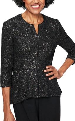 Alex Evenings Corded Lace Jacket