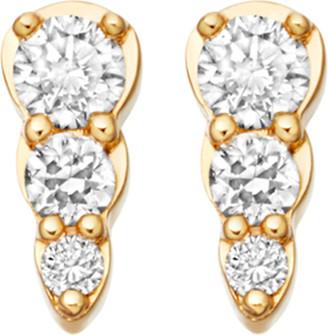 Astley Clarke Women's Yellow Gold Mini Interstellar 14ct And Diamond Stud Earrings