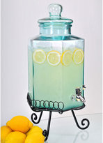 Hexagonal Glass Beverage Dispenser and Stand