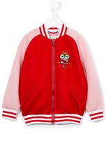 Fendi varsity bomber jacket - kids - Cotton/Spandex/Elastane/Modal - 2 yrs