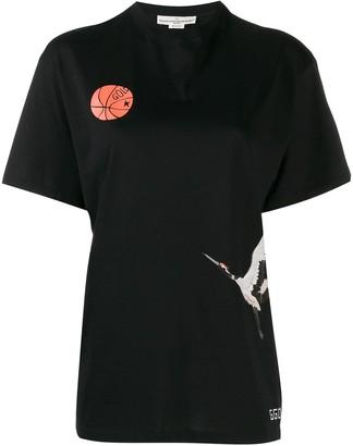 Golden Goose printed crane T-shirt