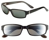 Maui Jim Women's 'Atoll' 56Mm Sunglasses - Gloss Black