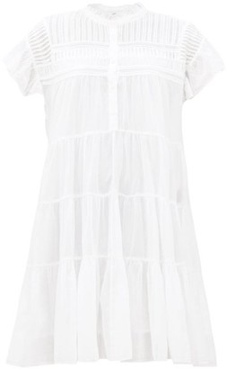 Etoile Isabel Marant Lanikaye Tiered Cotton Mini Dress - White