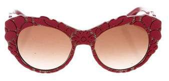 Dolce & Gabbana Oversize Cat-Eye Sunglasses