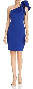 Aqua One-Shoulder Ruffle Cocktail Dress - 100% Exclusive