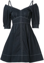 Derek Lam 10 Crosby embroidered flared dress - women - Cotton - 0