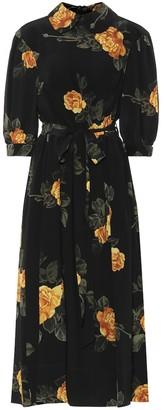Simone Rocha Floral crepe midi dress