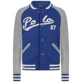 Ralph Lauren Ralph LaurenBoys Blue Baseball Jersey Jacket