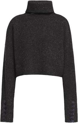 3.1 Phillip Lim Folk Cropped Boucle-knit Wool-blend Turtleneck Sweater