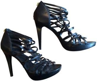 Diane von Furstenberg Black Leather Sandals