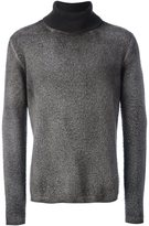 Avant Toi pile effect crew neck sweater