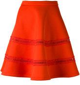 Carven flared scuba skirt - women - Polyester/Spandex/Elastane - M
