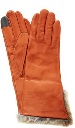 Maison Fabre Lambskin Fur Cuff Gloves
