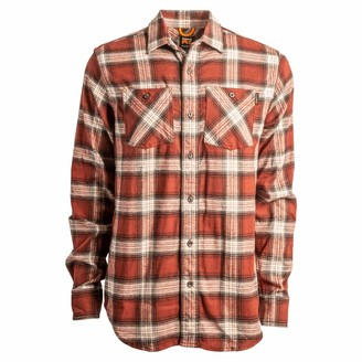 Timberland Men's A1P41 Woodfort Flex Flannel Work Shirt - Medium Regular - Mount Washington Plaid Dark Navy