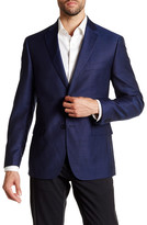 JB Britches Blue Two Button Notch Lapel Wool Sportcoat