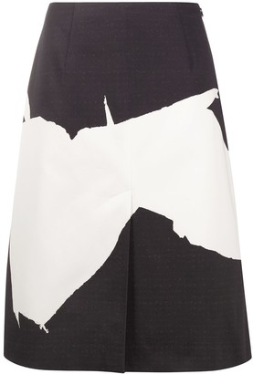 Maison Margiela abstract-print A-line skirt