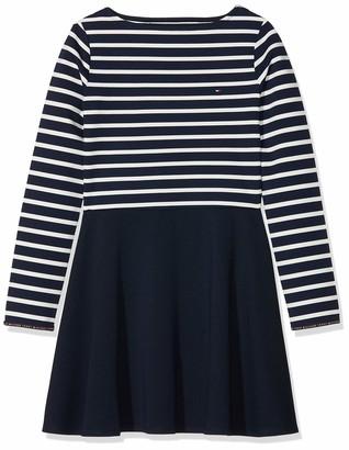 Tommy Hilfiger Girl's Essential Stripe Knit Dress L/s