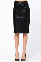 Very J Faux Leather Skirt