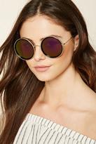 Forever 21 FOREVER 21+ High-Polish Round Sunglasses