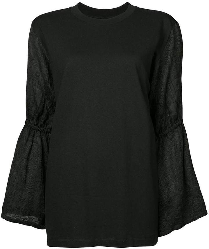 Mother of Pearl flared sleeve blouse