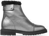 Jimmy Choo VOYAGER II/F Anthracite Metallic Grainy Calf Leather Snow Boots with Heated Soles