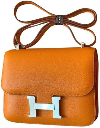 Hermes Constance Orange Leather Handbags