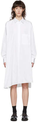 Y's Ys White S-RT Flow Flare Shirt Dress