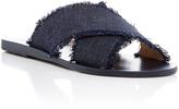 Ancient Greek Sandals Thais Dark Denim Slides