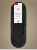 M&S Collection 3 Pair Pack Cotton Rich Low Cut Footsies