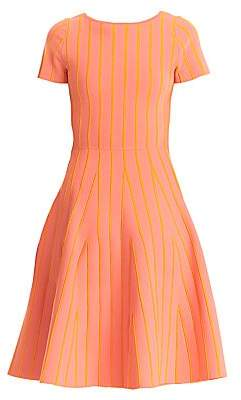 Carolina Herrera Women's Striped Fit-&-Flare Dress