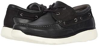 Propet Orman (Black Full Grain Leather/Nubuck Trim) Men's Lace Up Moc Toe Shoes