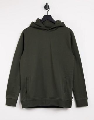 Burton Menswear overhead hoodie in khaki