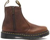 Dr. Martens Women's 2976 Chelsea Boots with Zips Dark Brown