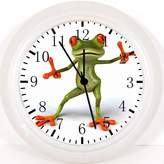 """Rusch Inc. Cute Funny Frog Wall Clock E209 Nice For Gift or Home Office Wall Decor 10"""""""