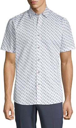 Saks Fifth Avenue Patterned Button-Down Shirt