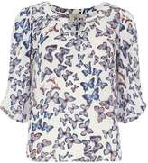 **Billie & Blossom Ivory butterfly trim blouse