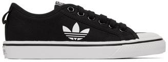 adidas Black Nizza Trefoil Sneakers