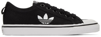 adidas Black Nizza Trefoil Sneakers