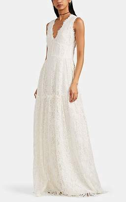 Sophia Kah Women's Corseted Floral Lace Gown - White