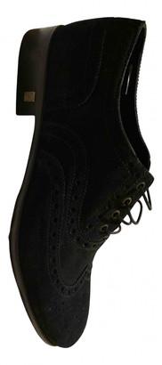 Versace Black Suede Lace ups